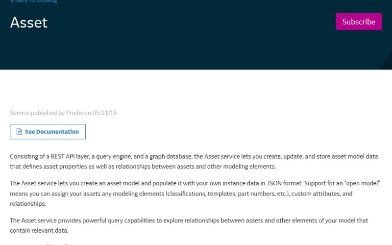 Predix Asset Data API