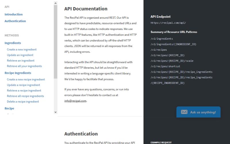 ReciPal API