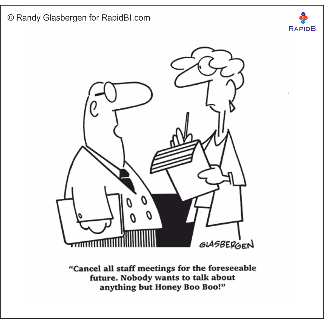 RapidBI Daily Cartoon #57 A look at the lighter side of