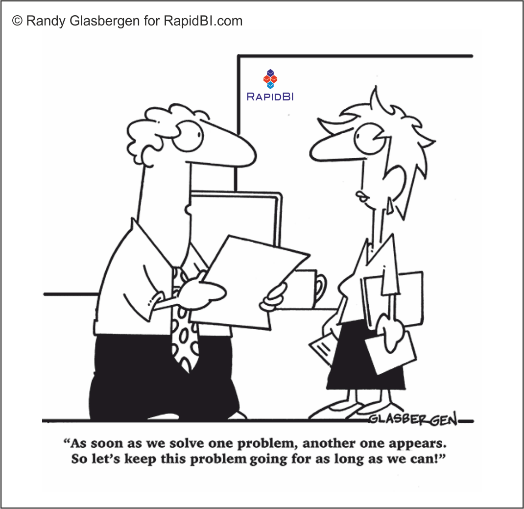 RapidBI Daily Cartoon #74 A look at the lighter side of