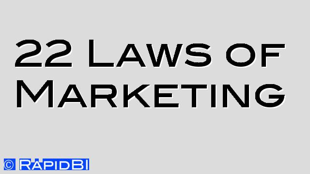 22 Laws of Marketing for Business