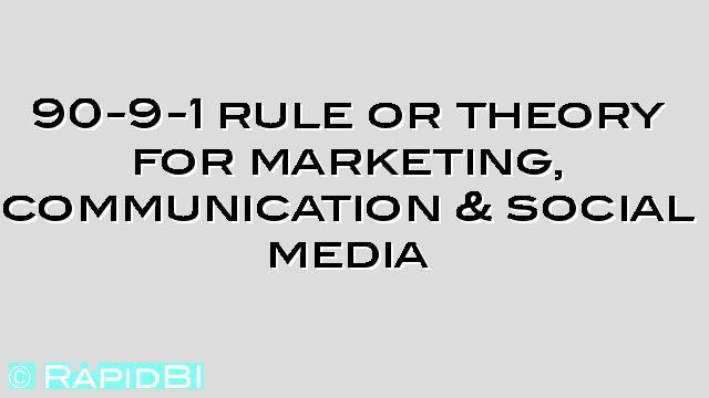 90-9-1 marketing, communication & social media networks