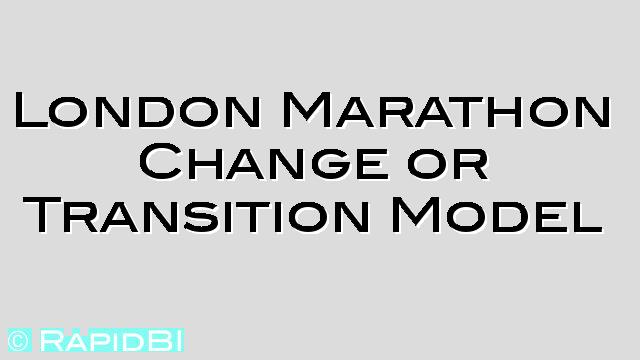 When looking to lead change: The Marathon Effect