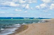 Vast, empty expanse of beach