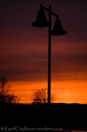 Lamp post silhouette