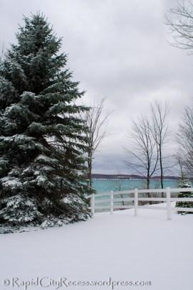 Torch Lake winter scene