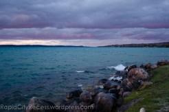 purple post sunset Torch Lake