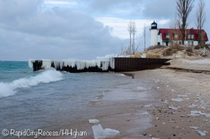 Point Betsie Lighthouse from the safety of the shore