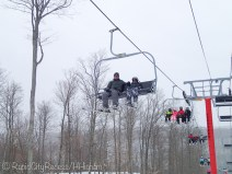 Tony and Zy - chair lift