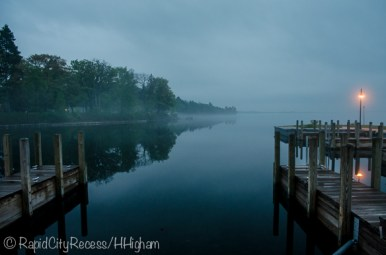 Alden Marina in fog