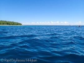 kayaking over deep water