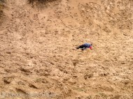 Kade collapsed in sand