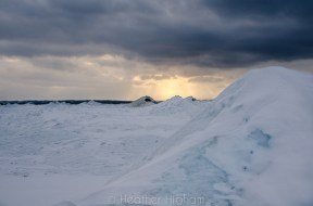 ice volcanoes and dramatic sky