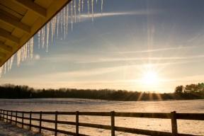 sun snow ice