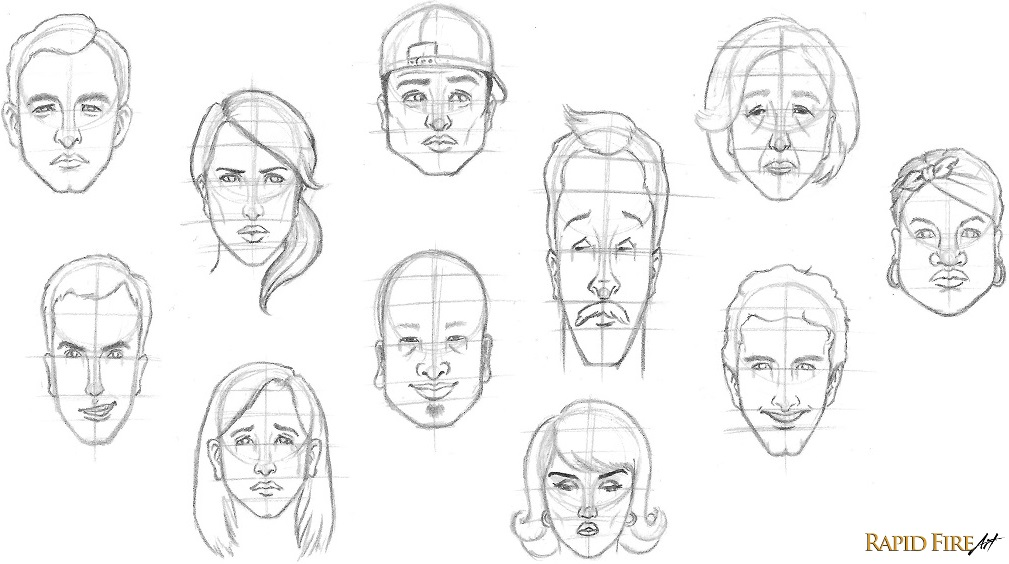 Learn how to draw a face in 8 easy steps: Beginners