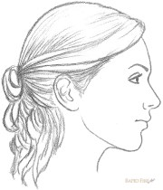 draw female face side