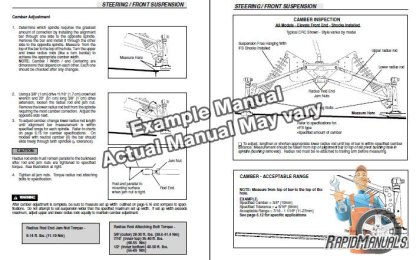 Snowmobile Service Manual Sample