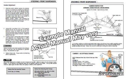 Snowmobile Service Manual Sample