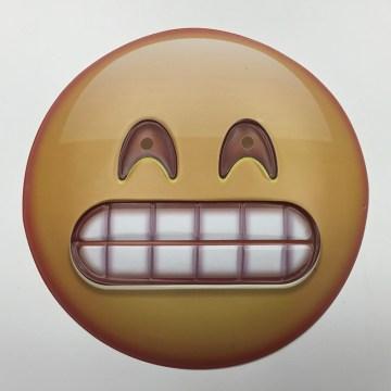 Grin emoji mask