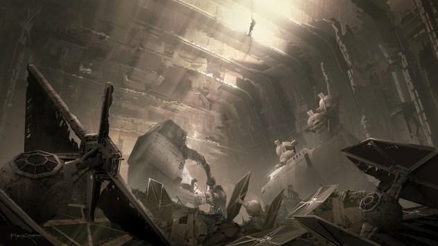 ILM Force Awakens portfolio - Jakku 4