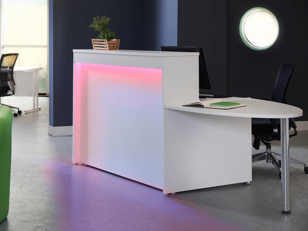 AMS Welcome Reception Desk with Lighting  Rapid Office