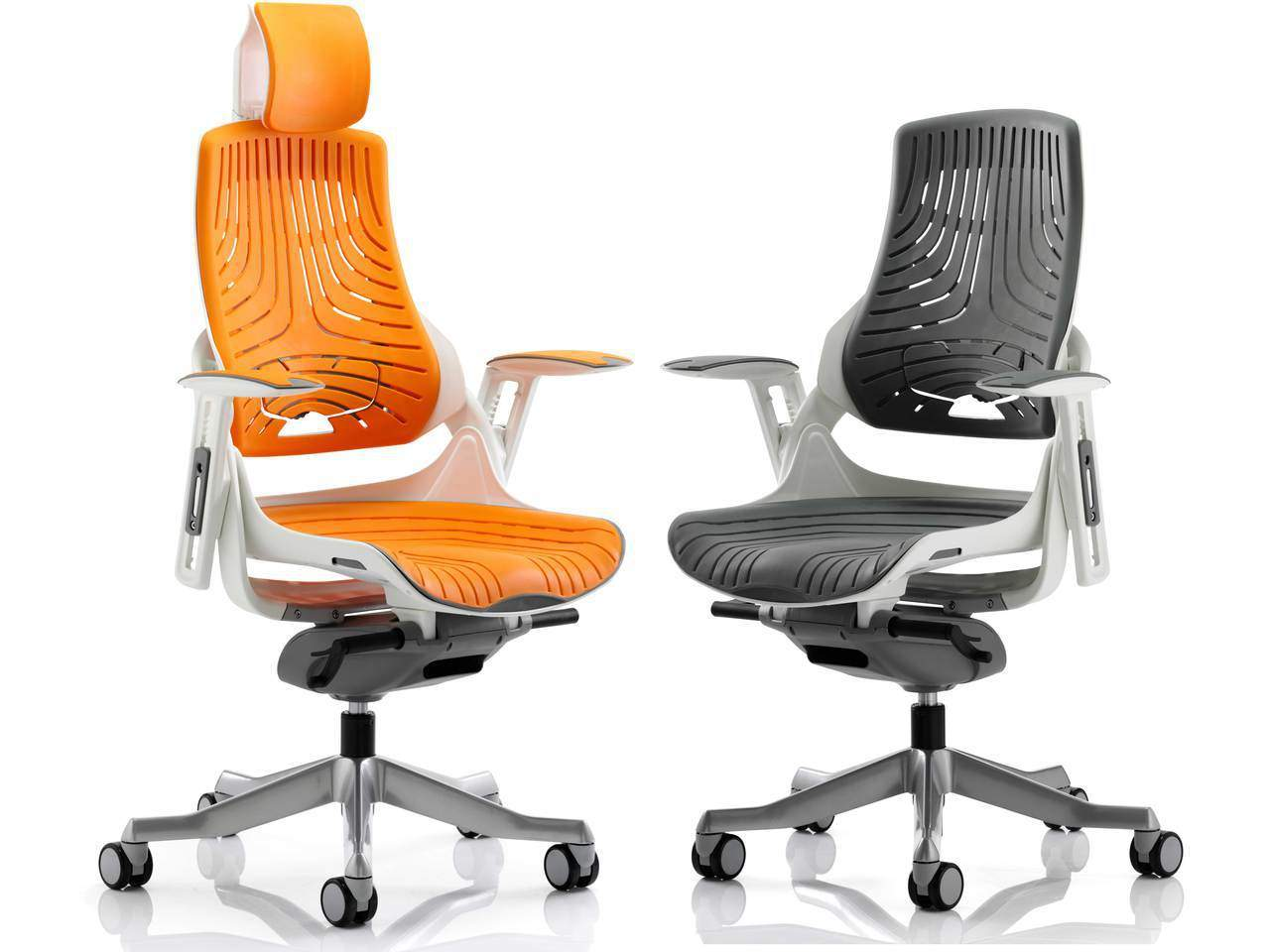 Orange Office Chairs Zure Elastomer Executive Office Chair