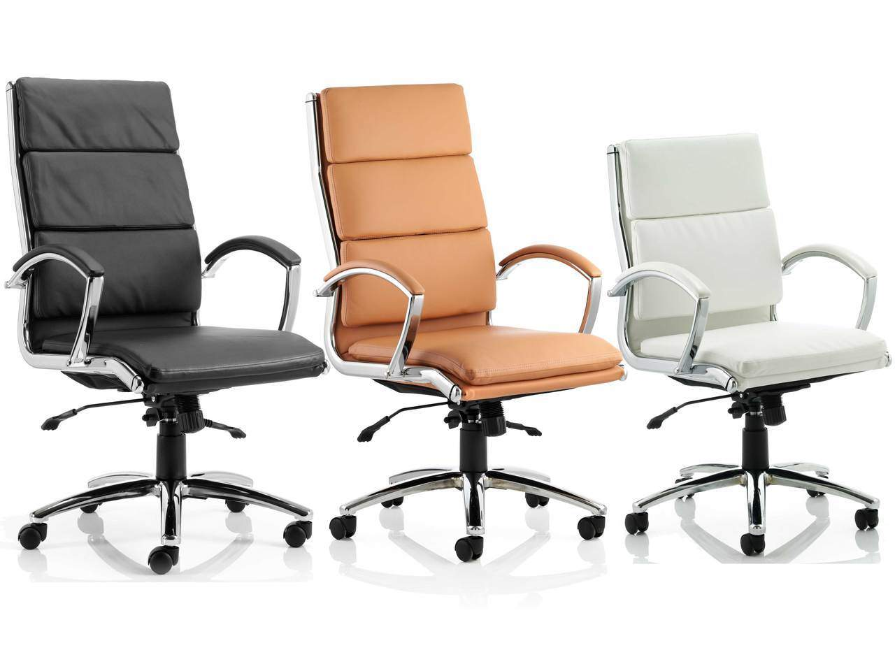 Tan Office Chair Classic Leather Executive Office Chair Rapid Office