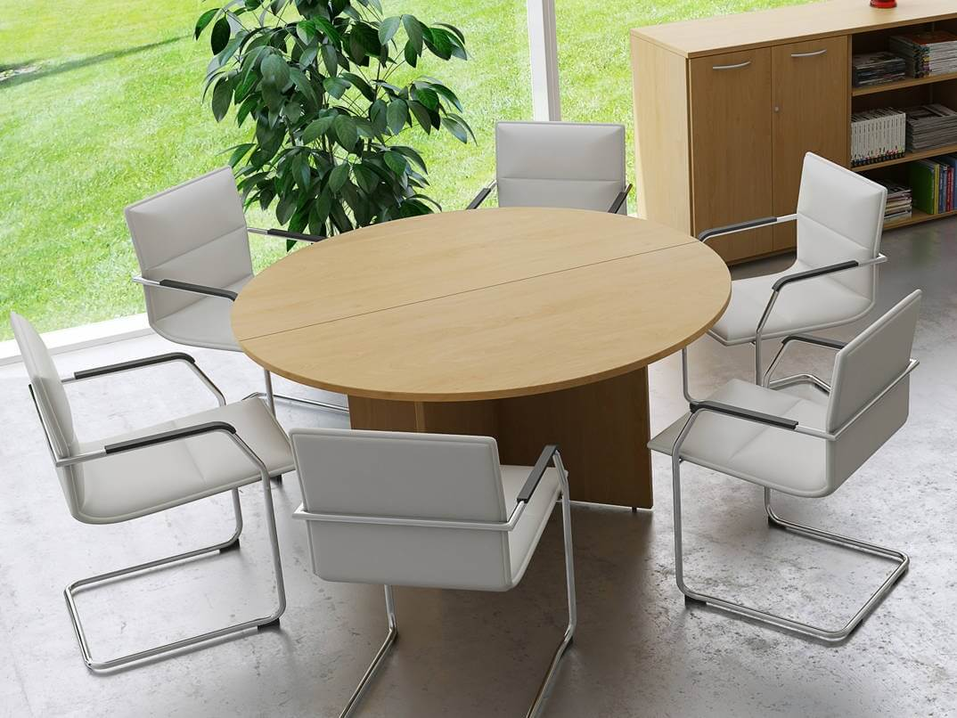 office tables and chairs in hyderabad folding arm chair tcs round meeting table on arrowhead base rapid