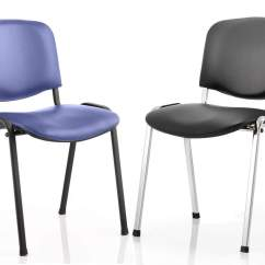 Office Chair Vinyl That Turns Into A Bed Shark Tank Iso Stackable Meeting Reception
