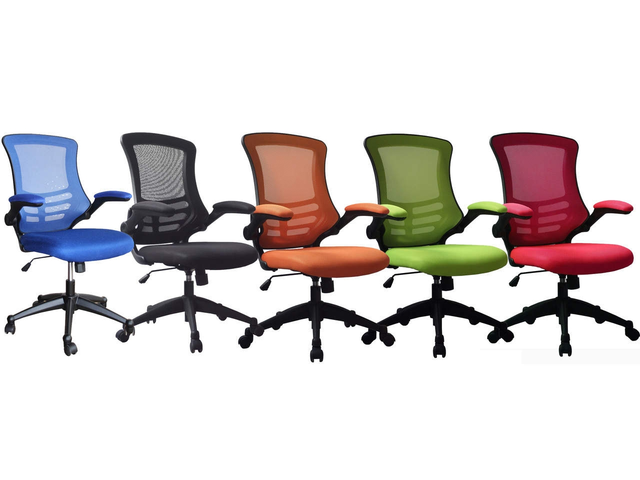 Orange Office Chairs Luna Mesh Operator Office Chair