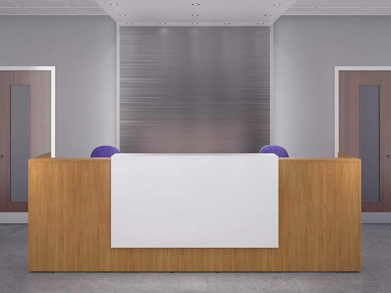 Tcs Zion 2 Person Single Front Reception Desk Rapid