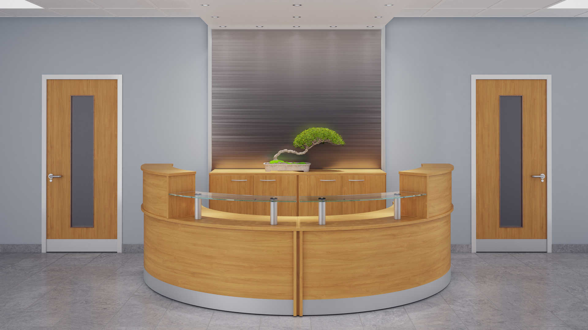 Z Range Modular Curved Reception Desk Counter Rapid
