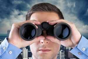 Binoculars, The Future, Business.