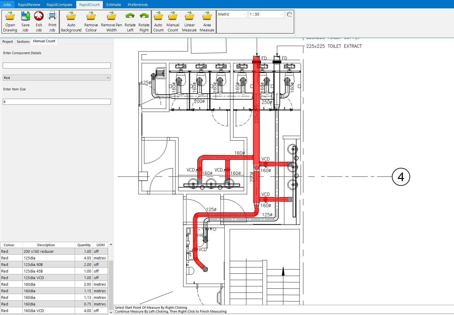 hight resolution of simple hvac and ductwork estimating software