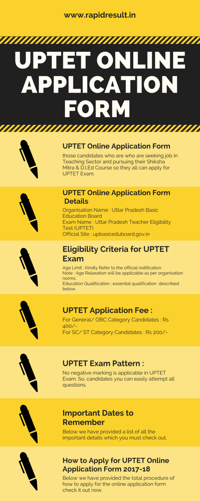 UPTET application form online
