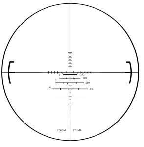 Rapid reticle 17 scope reticle