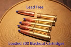 Lead-free ammo loaded cartridges