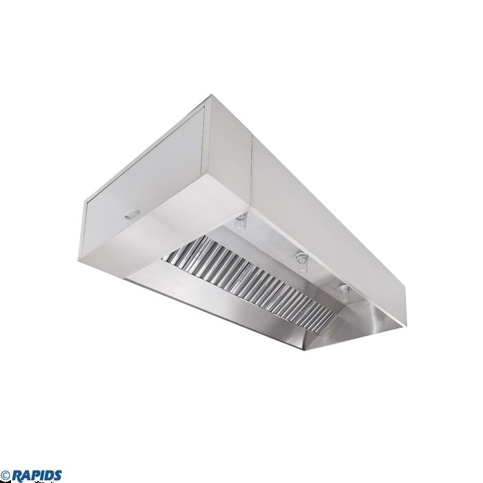 econ air wall canopy box style kitchen exhaust hood 8