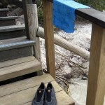 Water shoes and diver's shammy – I pack both for any wet destination