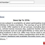 Costco Travel adds Avis/Budget/Enterprise profile numbers to bookings