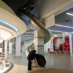 Lyon Airport has a 2-story slide to keep the kiddies occupied