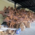 100-foot, 50-ton Great Wall woodcarving: Shanghai Wangjia Root Carving Museum