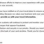 Chase Credit Card Travel Notifications No Longer Needed?