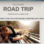 Win a 2014 Ford Mustang and 5 Hilton Nights – Ultimate Road Trip Sweepstakes