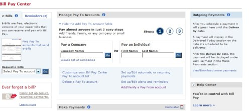 BofA Bill Pay Center