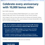 US Airways MasterCards With 10k Annual Bonus Will Continue