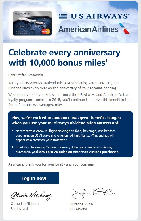 US Airways Mastercard 10k