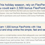 1,000 Free US Bank FlexPoints for Visa CheckOut, 2,500 for Spend
