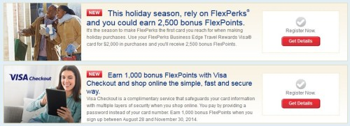 US Bank FlexPerks Holiday Promos