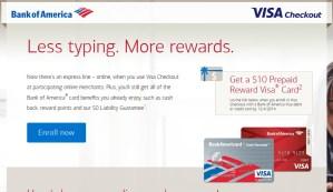 BofA Visa Checkout $10